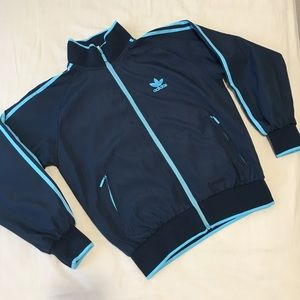 adidas original blue jacket